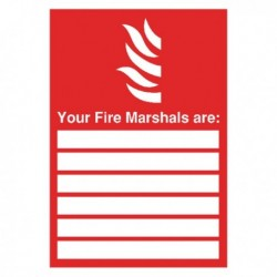 Your Fire Marshals A4 PVC Sign