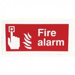 Fire Alarm 100x200mm Self-Adh Sign