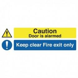 Door Alarmed/Fire Exit Sign