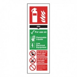 CO2 Fire Extinguisher Self-Adhesive Sign