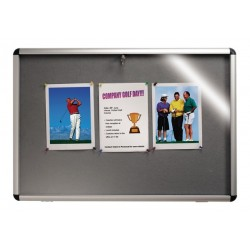 Nobo Lockable Visual Board Grey 965x665