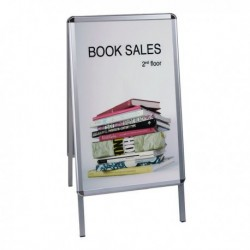 Bi-Office Grey A Frame A1 Info Board