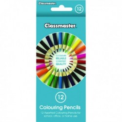 Classmaster Colouring Pencil Asstd Pk12