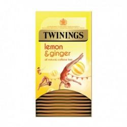 Twinings Lemon/Ginger Infusion Tea Pk20