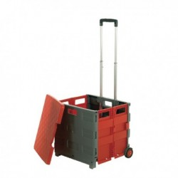 GPC Folding Box Truck with Lid Grey/Red