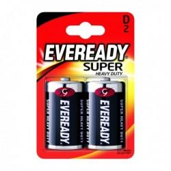 Eveready Super H/Duty Size D Battery Pk2