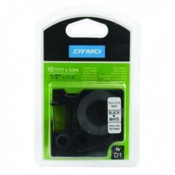 Dymo Blk/Wht D1 Tape 12mmx3.5m S0718040