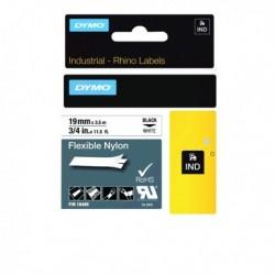 Dymo Blk/Wht Flexible Label 19mm 18489