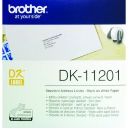 Brother Black/White Address Labels Pk400