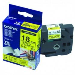Brother Black/Yellw TZe Tape 18mm TZE641