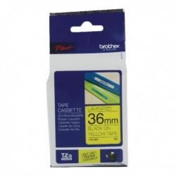 Brother Black/Yellow TZ Tape 36mm TZ661