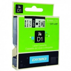 Dymo Blk/Wht 1000/5000 Tape 6mmx7m 43613