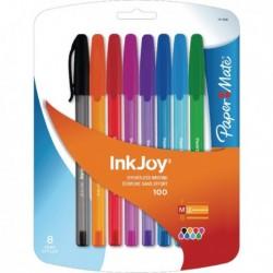 Papermate Inkjoy 100 Stick Astd Ball Pk8