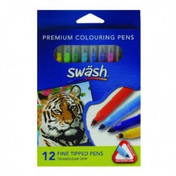 Swash Komfigrip Fine Colouring Pen Pk12