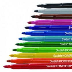 Swash Komfigrip Broad Colour Pens Pk12