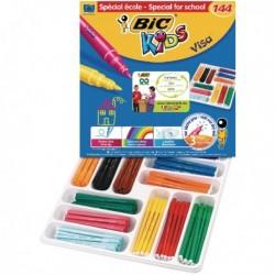 Bic Visa Colouring Pens Class Pack Pk144