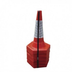 Red 50cm Sand Weighted Cones Pk5