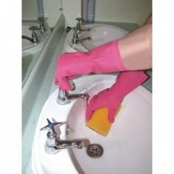 Shield Household Pink Rubber Gloves GR03