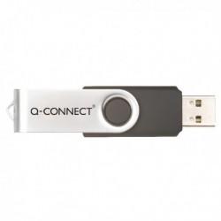 Q-Connect Sil/Blk Swivel 8Gb USB Drive