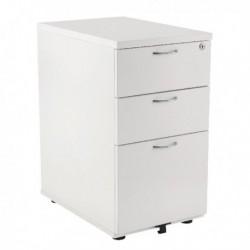 FF Jemini 3Drw Desk Hi Ped 600 White