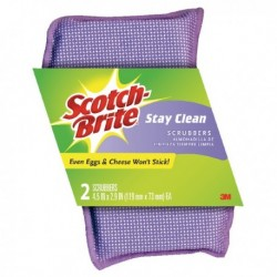Scotch-Brite Stay Clean Scrubber Pk2 202