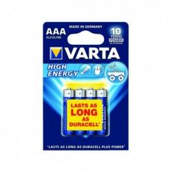 Varta AAA Hi/Energy Battery Alkaline Pk4
