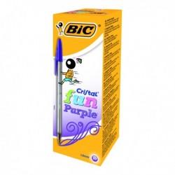 Bic Cristal Fun Ball Pen Purple Pk20