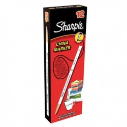 Sharpie China Marker White Pk12