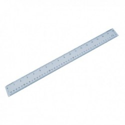 Plastic Shatterproof Ruler 50cm Clear