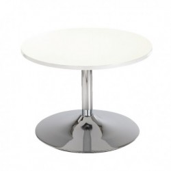 FF Arista Wht 800mm Bistro Tbl Trump Bse