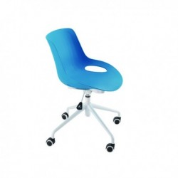 FF Jemini Blue Soho Swivel Chair