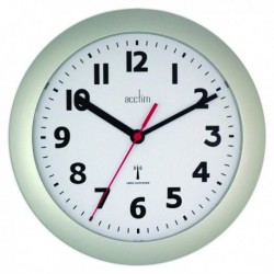 Acctim Parona Silver RC Wall Clock