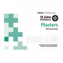 St John Detectable Blue Plasters Pk100