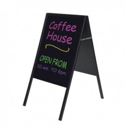 Bi-Office Black A Frame Chalk Board