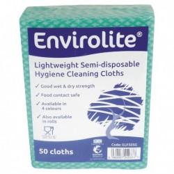 Envirolite Cloths 480x360mm Green Pk 50