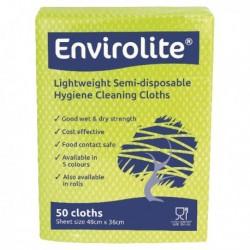 Envirolite Cloths 480x360mm Yellow Pk50