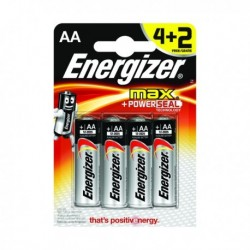 Energizer MAX E91 AA Batteries 4 Plus 2