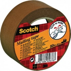 Scotch Brown Paper Mailing Tape 50mm