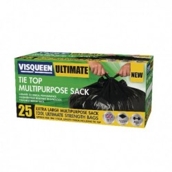Visqueen Black Tie Top Multipurpose Sack