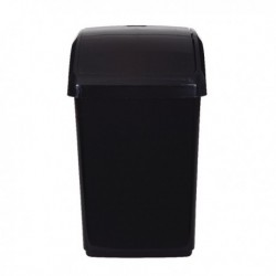 2Work Black Swing Top Bin 10 Ltr