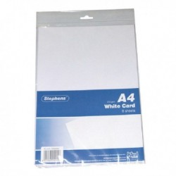 Stephens White A4 Card Sheets Pk10
