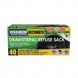 Visqueen Ult Drawstring Refuse Sack 80L