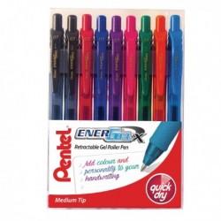 Pentel EnerGel Pen Med Assrt Pk12