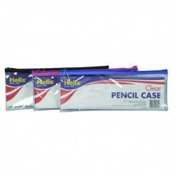 Helix Clear Pencil Case 330x125mm Asstd