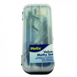 Helix Blue/Clear Value Maths Set Pk12