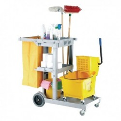 Grey Multipurpose Janitorial Trolley