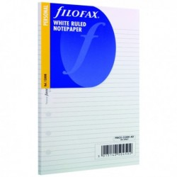 Filofax Personal Ruled Paper White Pk30