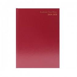 Academic Burgundy A4 Diary WTV 2019-20