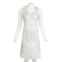 White Aprons Flat (100 Pack)