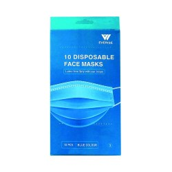Disposable 3Ply Face Mask 10pk